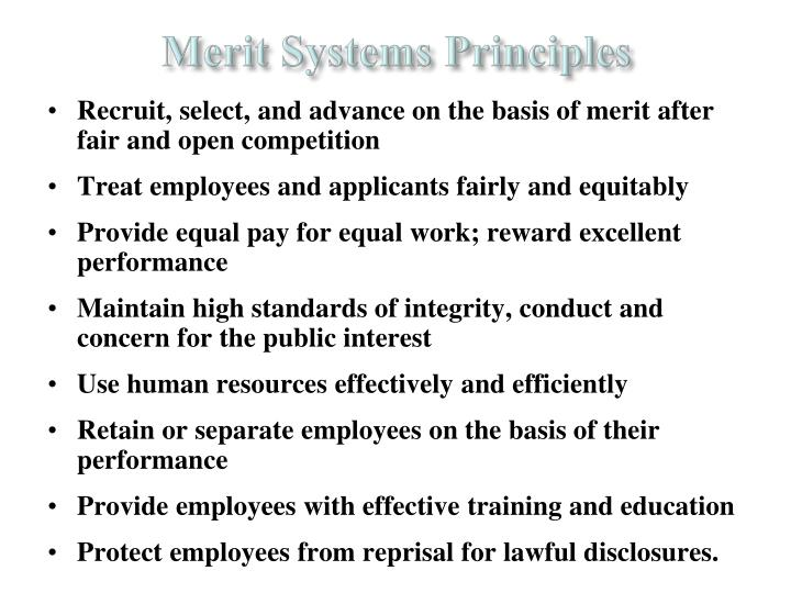 Merit Systems Principles
