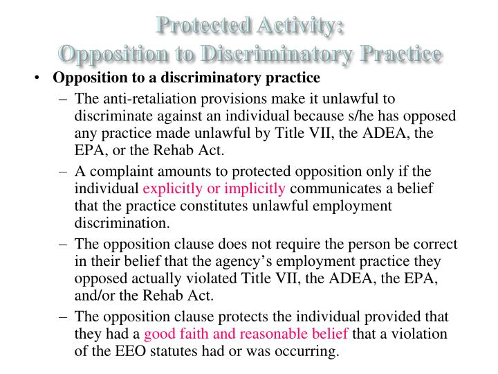 Protected Activity: