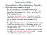protected activity opposition to discriminatory practice