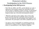 protected activity participation in the eeo process