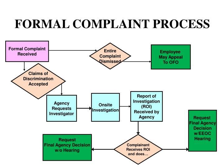 FORMAL COMPLAINT PROCESS