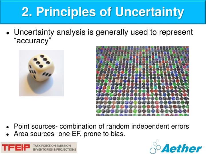 2. Principles of Uncertainty