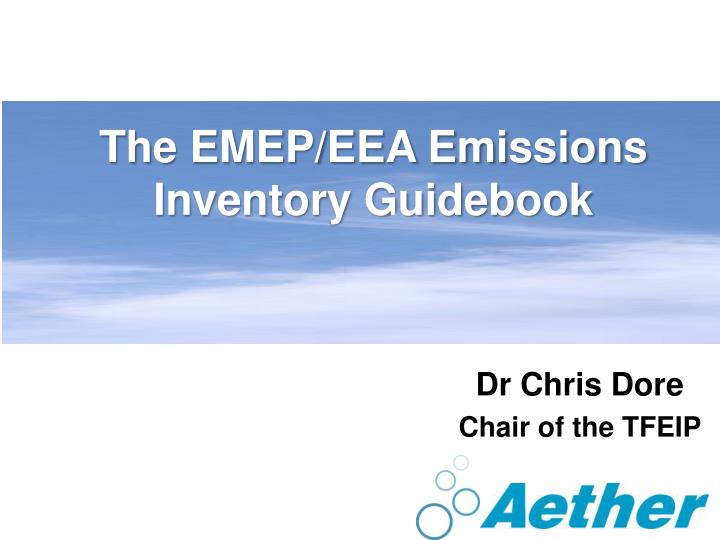 the emep eea emissions inventory guidebook