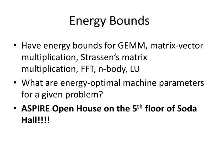 Energy Bounds