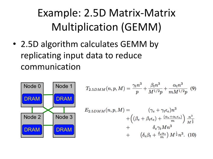 Example: 2.5D Matrix-Matrix Multiplication (GEMM)