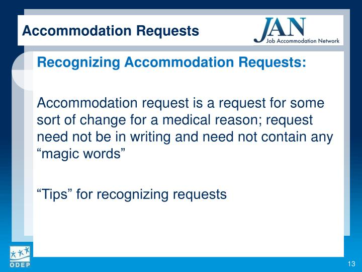 Accommodation Requests