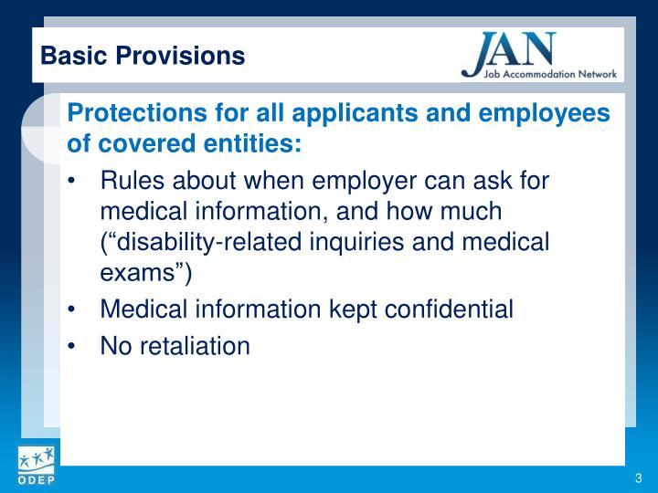 Basic Provisions