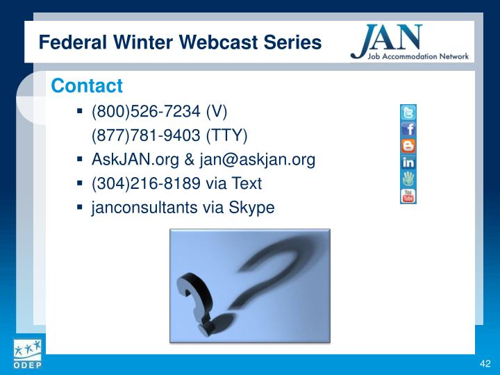 Federal Winter Webcast Series