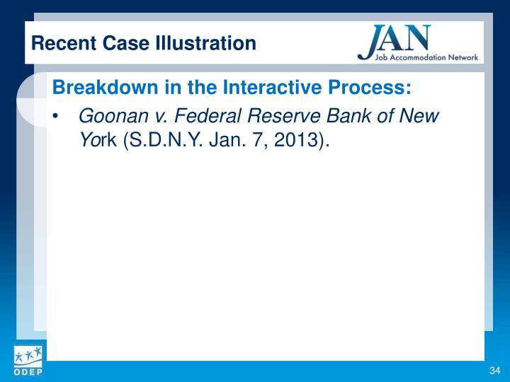 Recent Case Illustration