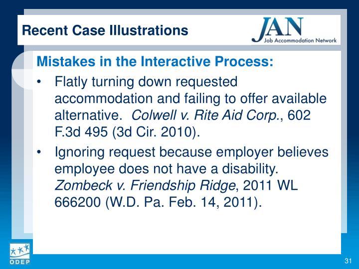 Recent Case Illustrations