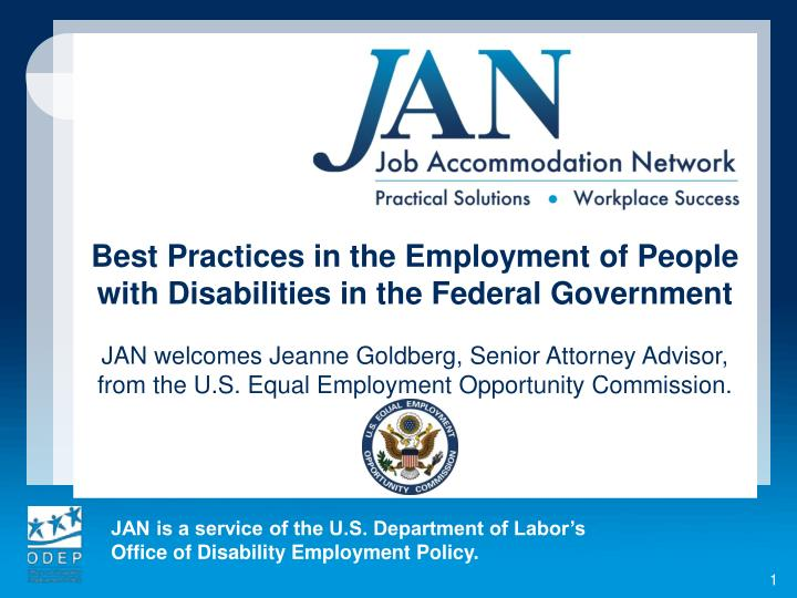 Best Practices in the Employment of People with Disabilities in the Federal Government