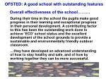 ofsted a good school with outstanding features