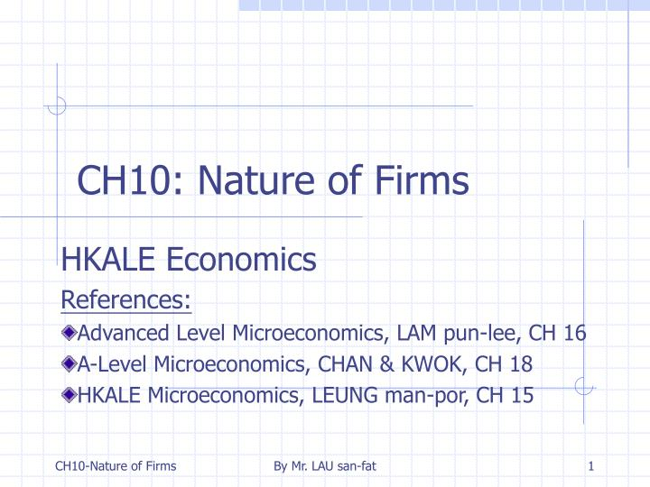 Ch10 nature of firms