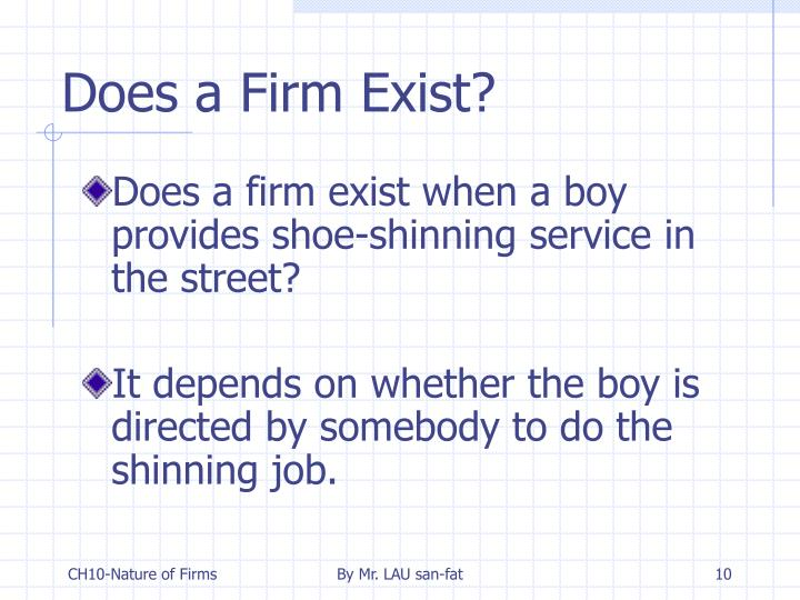 Does a Firm Exist?