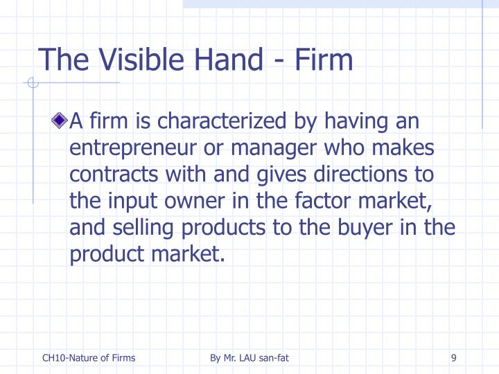 The Visible Hand - Firm