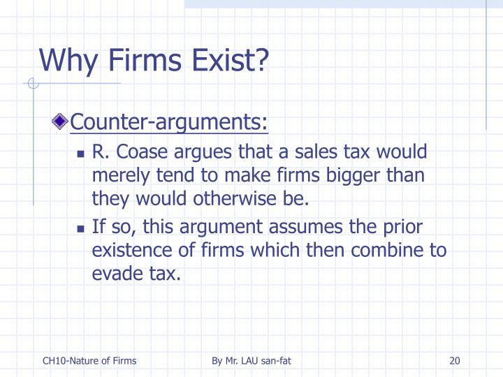 Why Firms Exist?