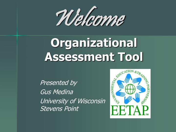 Organizational assessment tool