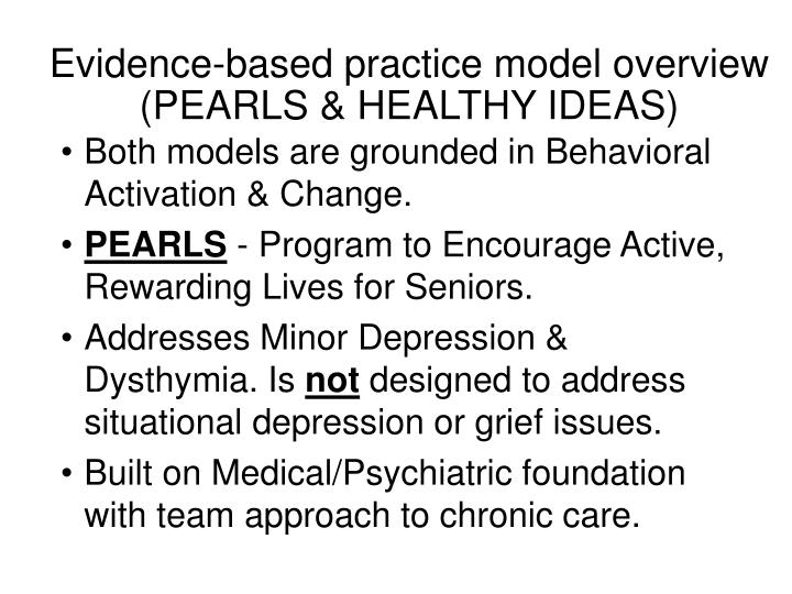 Evidence-based practice model overview