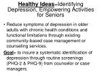 healthy ideas identifying depression empowering activities for seniors