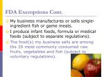 fda exemptions cont1