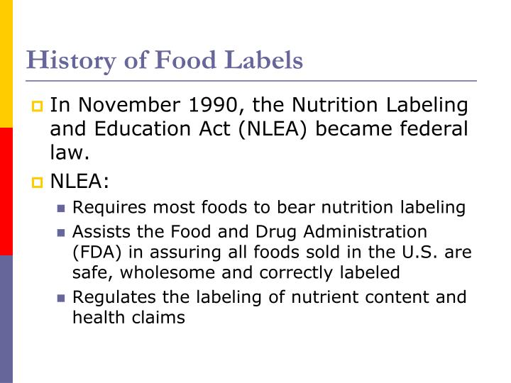 History of Food Labels