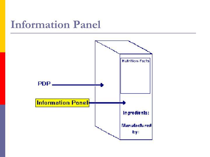 Information Panel