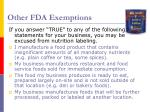 other fda exemptions