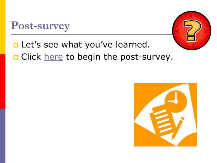 Post-survey