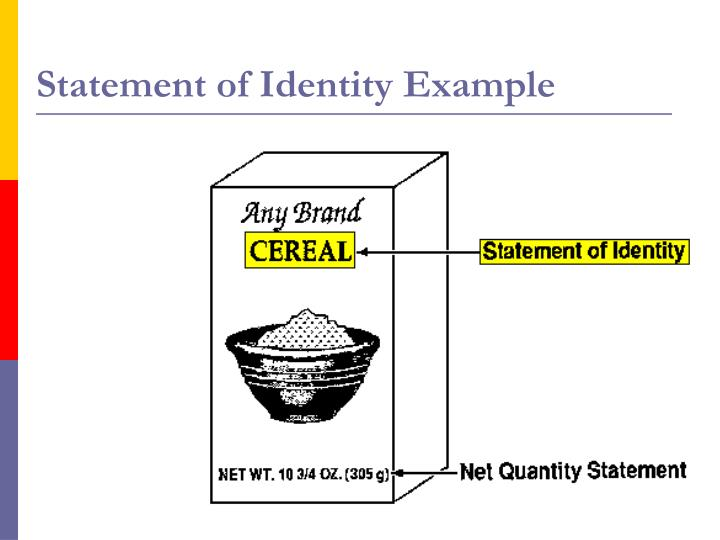 Statement of Identity Example