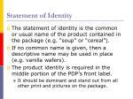 statement of identity