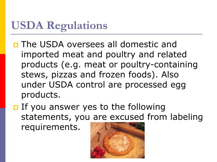 USDA Regulations