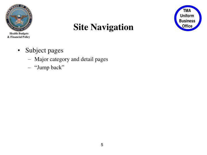 Site Navigation
