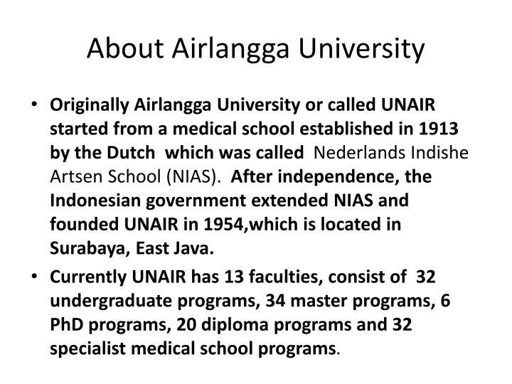 About Airlangga University