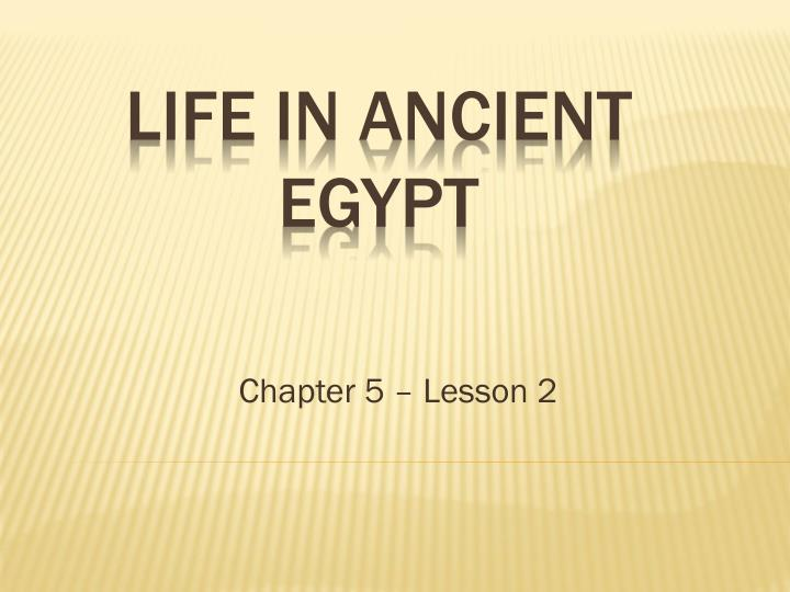 Chapter 5 – Lesson 2