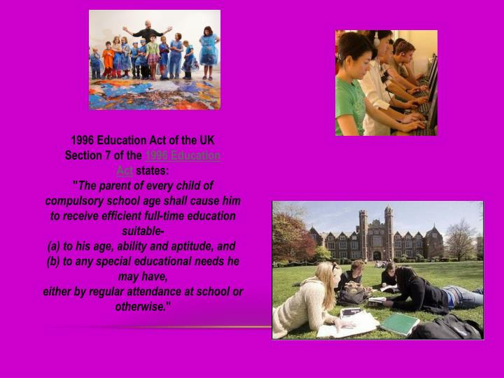 1996 Education Act of the UK