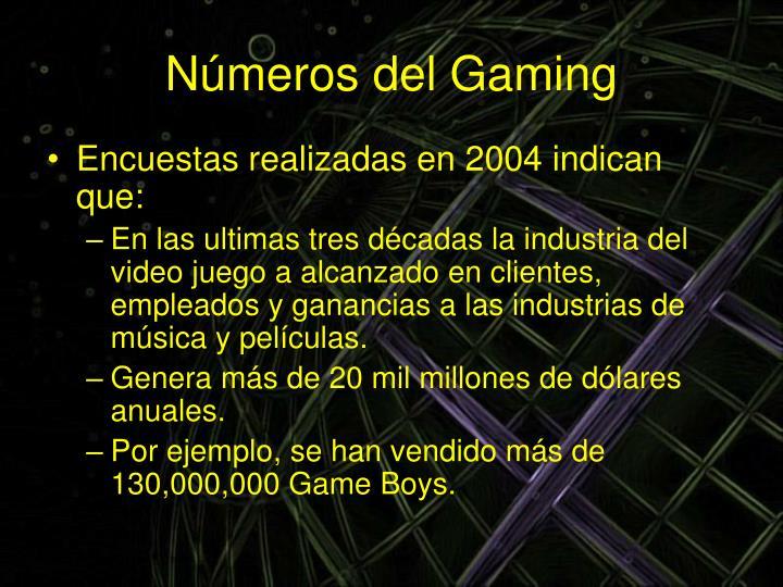 Números del Gaming