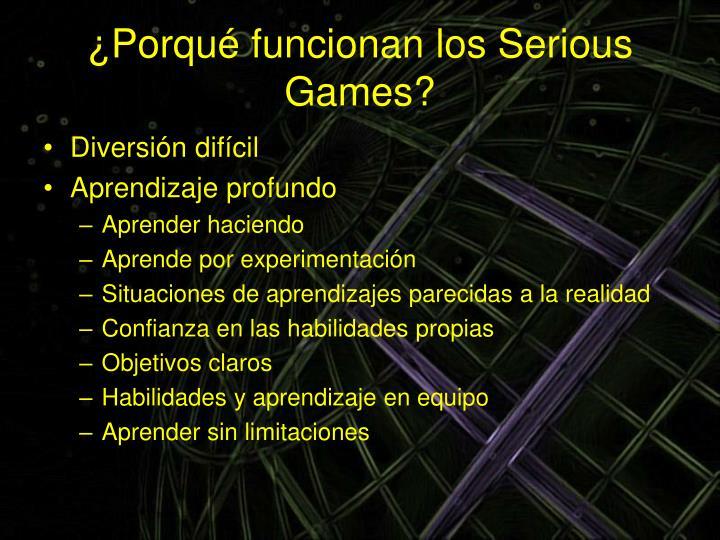 ¿Porqué funcionan los Serious Games?