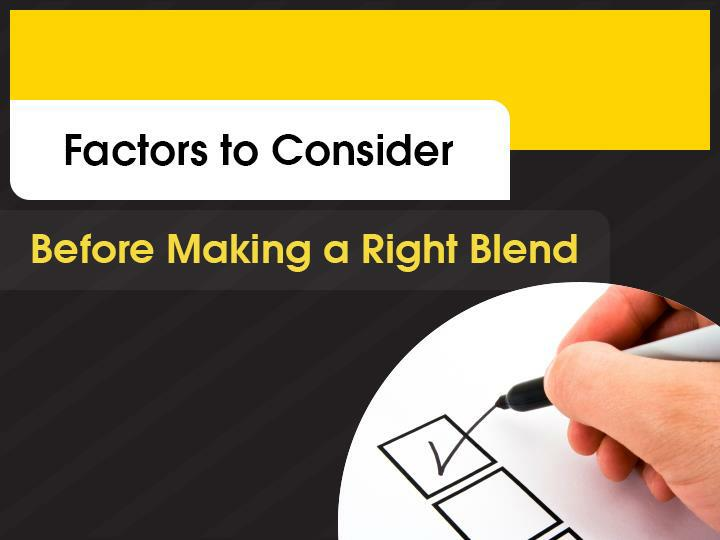 Factors to consider before making a right blend of training