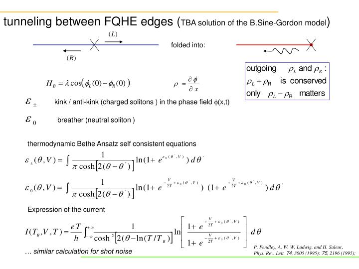tunneling between FQHE edges (