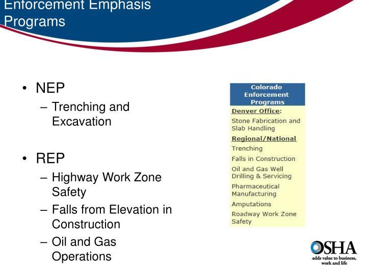 Enforcement Emphasis Programs