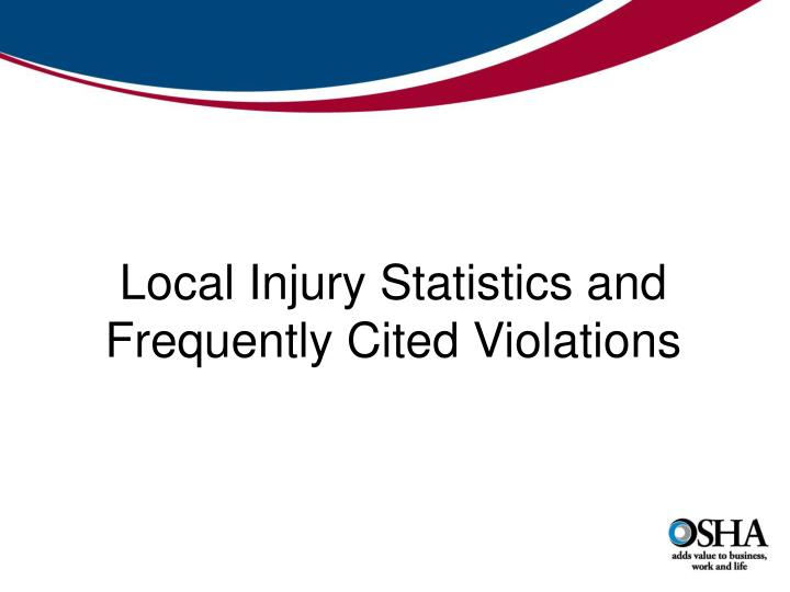 Local Injury Statistics and Frequently Cited Violations