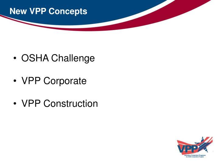 New VPP Concepts