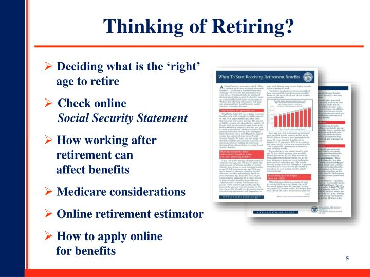 Thinking of Retiring?