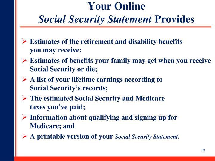 Your Online