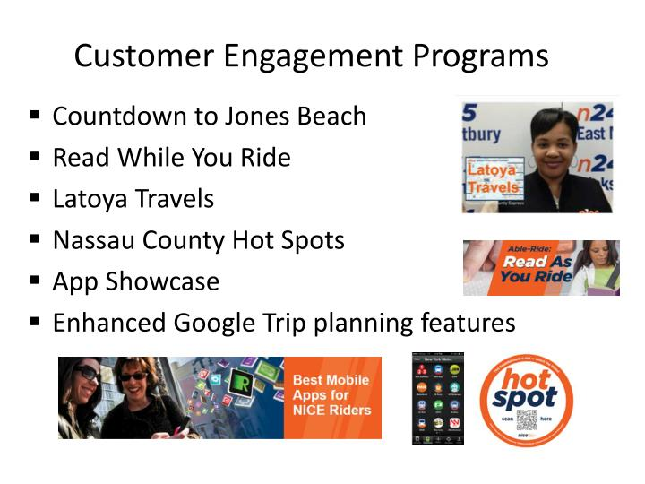 Customer Engagement Programs