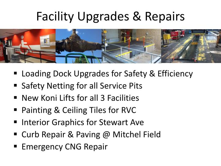 Facility Upgrades & Repairs