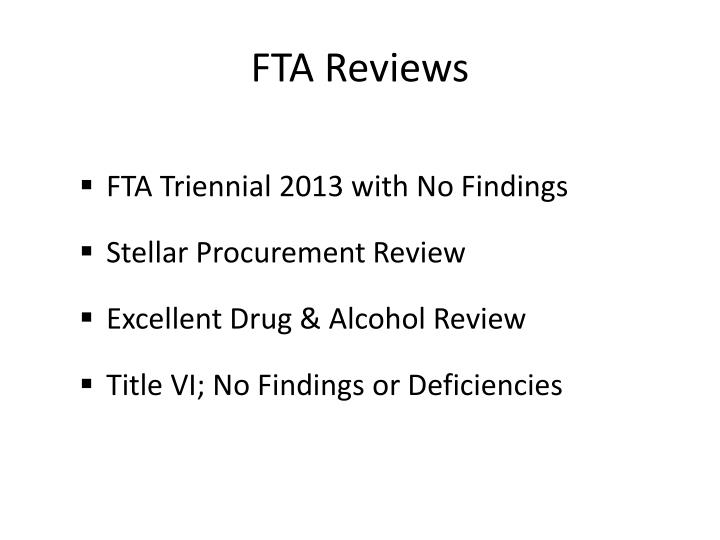 FTA Reviews