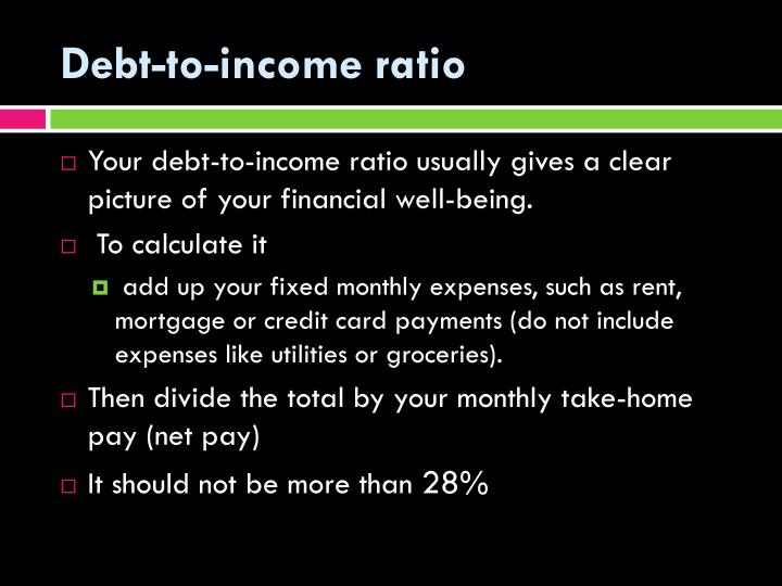 Debt-to-income ratio
