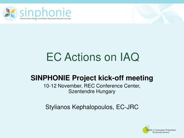 Ec actions on iaq
