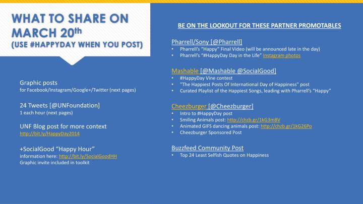 WHAT TO SHARE ON